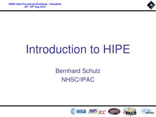 Introduction to HIPE