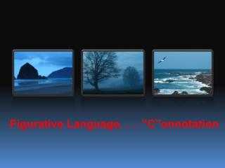 """Figurative Language. . . ."""" C""""onnotation"""