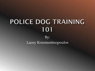 Police Dog Training 101