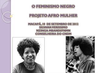 O FEMINISMO NEGRO Projeto afro mulher Macapá, 10  de setembro de 2012 Silvana verissimo