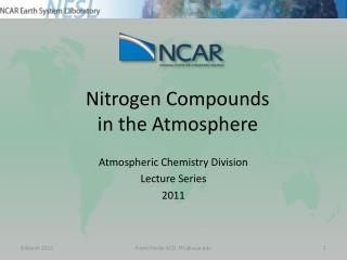 Nitrogen Compounds in the Atmosphere