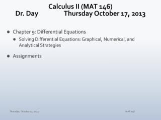 Calculus II (MAT 146) Dr. Day		Thursday October 17, 2013