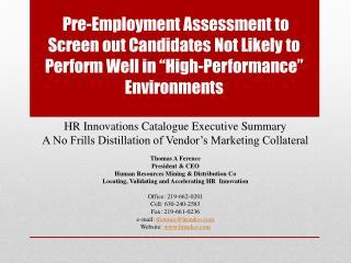 HR Innovations Catalogue Executive Summary