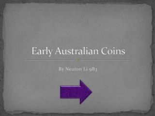 Early Australian Coins