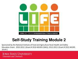 Self-Study Training Module 2