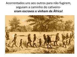 O que a nossa turma pensa sobre a escravatura :