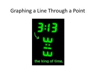 Graphing a Line  T hrough a Point