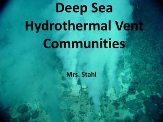 Deep Sea Hydrothermal Vent Communities