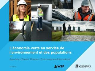 L'économie verte au service de l'environnement et des populations