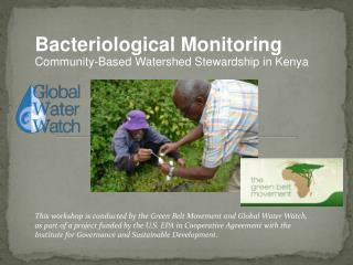 Bacteriological Monitoring Community-Based Watershed Stewardship in Kenya