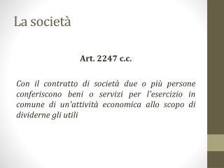 La societ�