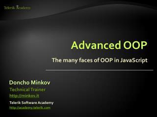 Advanced OOP