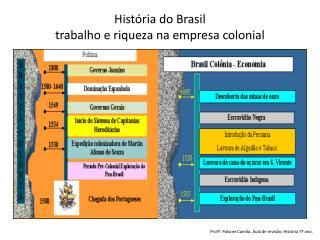 História do Brasil trabalho e riqueza na empresa colonial