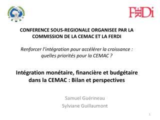 Intégration monétaire, financière et budgétaire dans la CEMAC : Bilan et perspectives