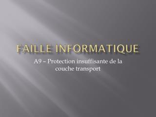 Faille informatique