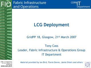 LCG Deployment