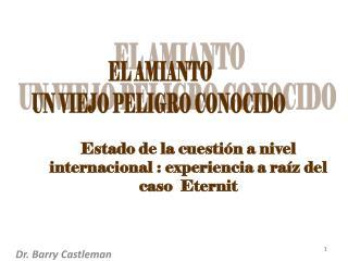 Estado de la cuestión a nivel internacional : experiencia a raíz del caso   Eternit