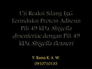 Y. Rama K. A. W. 0910710133