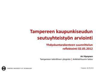 Tampereen kaupunkiseudun seutuyhteistyön arviointi