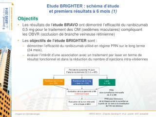 Etude BRIGHTER : schéma d'étude  et premiers résultats à 6 mois  (1)