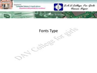 Fonts Type