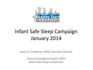 Infant Safe Sleep Campaign January 2014