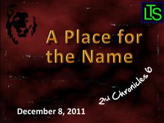 December 8,  2011