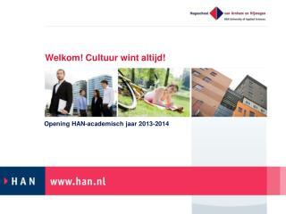 Welkom! Cultuur wint altijd!