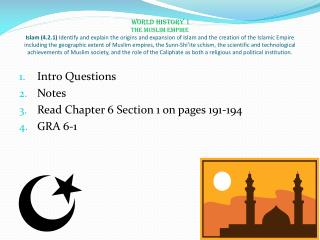 Intro Questions Notes Read Chapter 6 Section 1 on pages 191-194 GRA 6-1