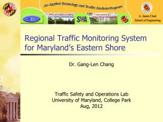 Regional Traffic Monitoring  System for  Maryland's Eastern Shore