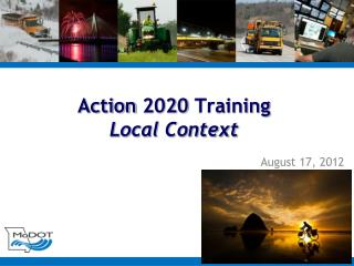 Action 2020 Training Local Context