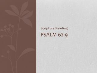 Psalm 62:9