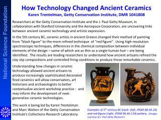 Crossing Cultures Karen  Trentelman , Getty Conservation Institute, DMR 1041808