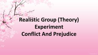 an analysis of realistic group conflict and prejudice About themselves when they act on their dislike of the out-group the realistic conflict prejudice can only be reduced when in-group analysis of 515.