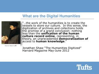 What are the Digital Humanities