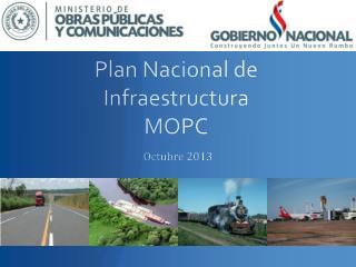 Plan Nacional de Infraestructura MOPC