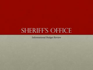 Sheriff�s OFFICE