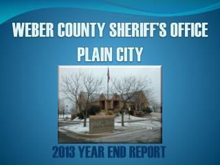 WEBER COUNTY SHERIFF'S OFFICE PLAIN CITY