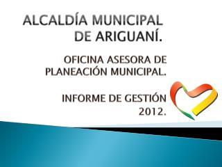 ALCALDÍA MUNICIPAL DE  ARIGUANÍ .