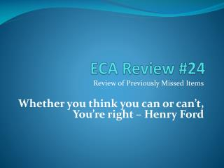 ECA Review #24