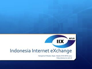 Indonesia Internet  eXchange