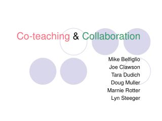 Co-teaching  Collaboration