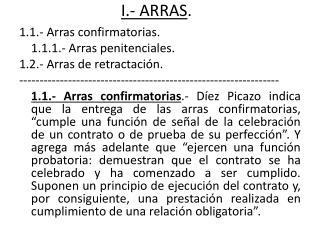 I.- ARRAS .