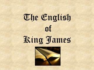 The English  of  King James