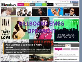 Billboard EMEG opdracht