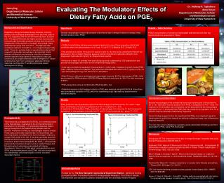 Evaluating The  Modulatory  Effects of Dietary Fatty Acids on PGE 2