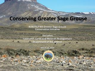 Conserving Greater Sage Grouse