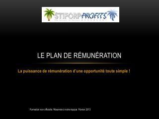 Le plan de r�mun�ration