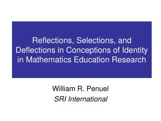 Reflections, Selections, and Deflections in Conceptions of Identity in Mathematics Education Research