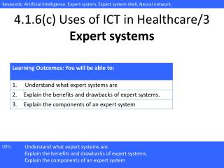 4.1.6(c) Uses of ICT in Healthcare/ 3 Expert systems